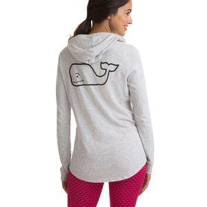 VV Graphic Slub Whale Gray T-shirt Hoodie $55